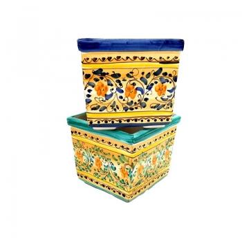 Portavaso Quadro Ceramica Di Caltagirone cm 20 x 20