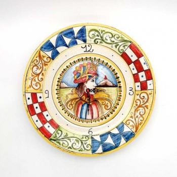 Orologio Ceramica Siciliana Caltagirone Angelica cm 40
