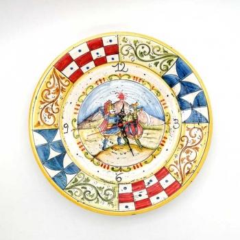 Orologio Ceramica Siciliana Caltagirone Paladini cm 40