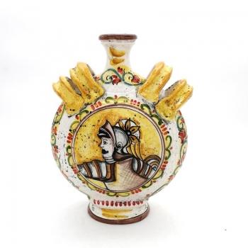 Fiasco con manici in Ceramica di Caltagirone cm 30