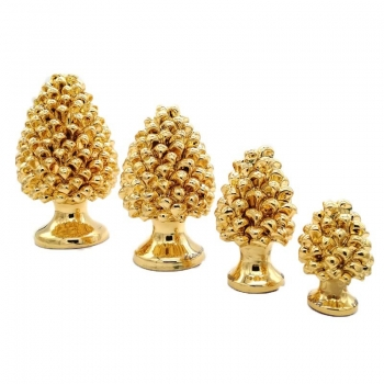 """Pigne in Ceramica Oro serie """"Luxury Gold""""- Varie Misure"""
