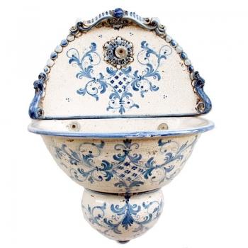 Fontana Murale Ceramiche Caltagirone Blu Antico