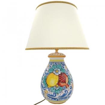 Lume Ceramica Siciliana Caltagirone Frutta H. cm 60