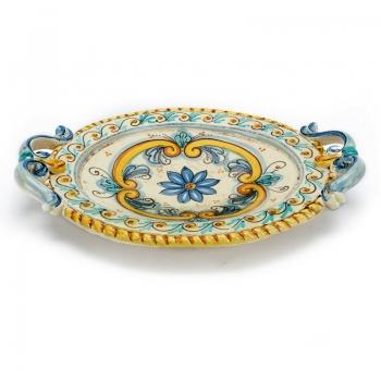 Centrotavola ceramica ovale cm.40