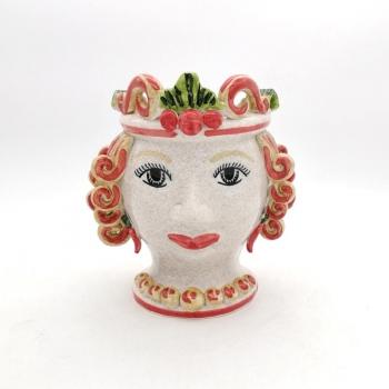 Testa Ceramica Caltagirone Donna  H.20