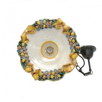 Caltagirone Sicilian Ceramic Lemons Chandelier cm 35