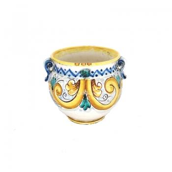 Sicilian Ceramic Yellow Flower Pot Stand cm 20