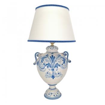 Caltagirone Sicilian Ceramic Blue Lamp cm 50