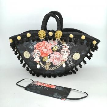 Black Sicilian Bag 55 cm