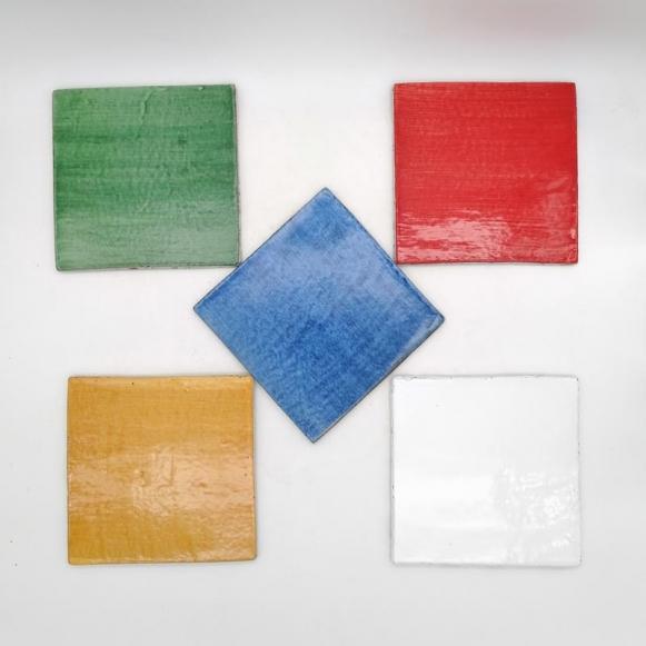 Piastrelle Ceramica Siciliana Caltagirone Multicolor-Varie Misure