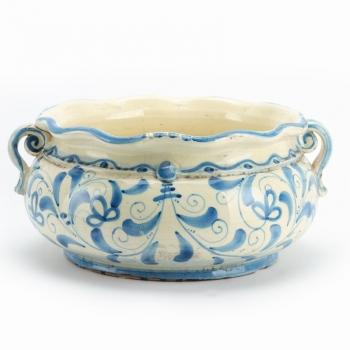 Ciotola in ceramica – Mod. smerlata tonda cm 30 Bl