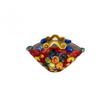 Borsa in ceramica Frutta manici cm 15