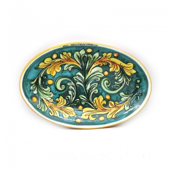 Piatto Ovale Ceramica Caltagirone Ornato  cm 35- Vari decori
