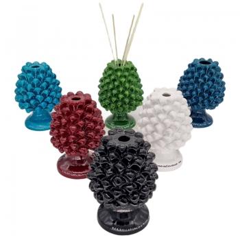 Sicilian Ceramic Diffuser Pine Cone cm 18