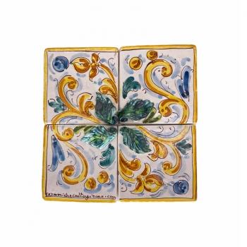 Caltagirone Sicilian Ceramic Mosaic 20 x 20