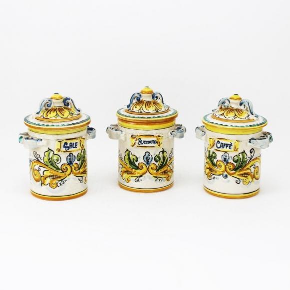 Tris Barattoli In Ceramica Piccoli