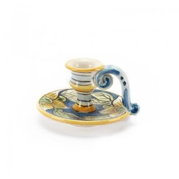 Bugia in ceramica con manico