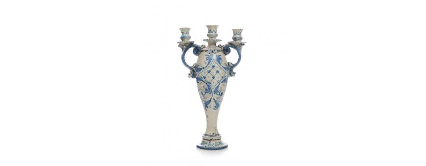 Vendita Candelabri in ceramica di Caltagirone - Prezzi bassissimi